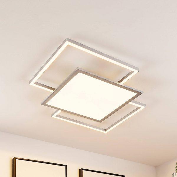 Lucande Ciaran -LED-kattovalaisin, neliömäinen CCT