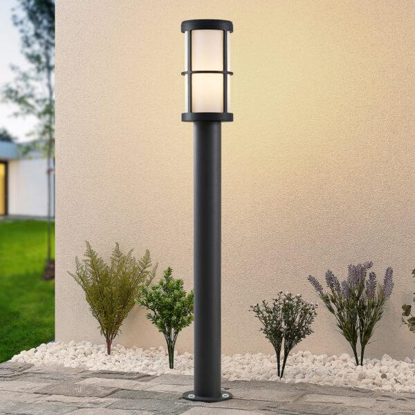 Lucande Kelini -pylväsvalaisin, 90 cm tummanharmaa