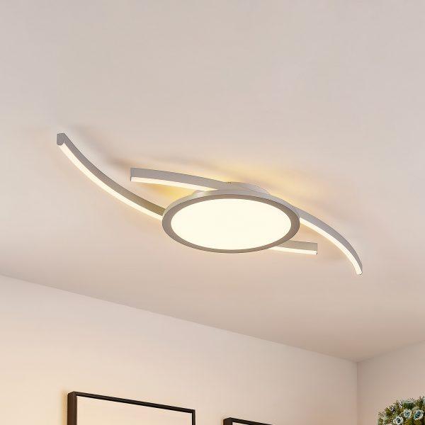Lucande Tiaro -LED-kattovalaisin, pyöreä