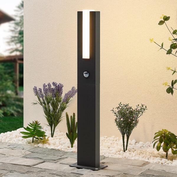 Lucande Virgalia-LED-pylväsvalaisin 65cm tunnistin