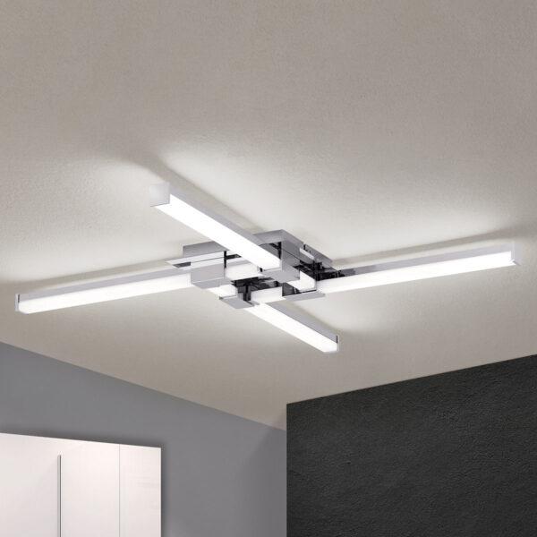 Nelilamppuinen kylpyhuoneen LED-kattolamppu Argo