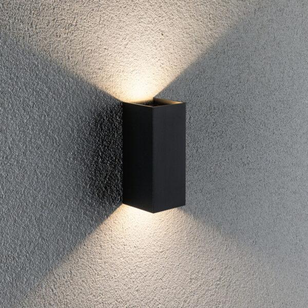 Paulmann Flame-seinälamppu 2-lamppuinen 15,5 cm