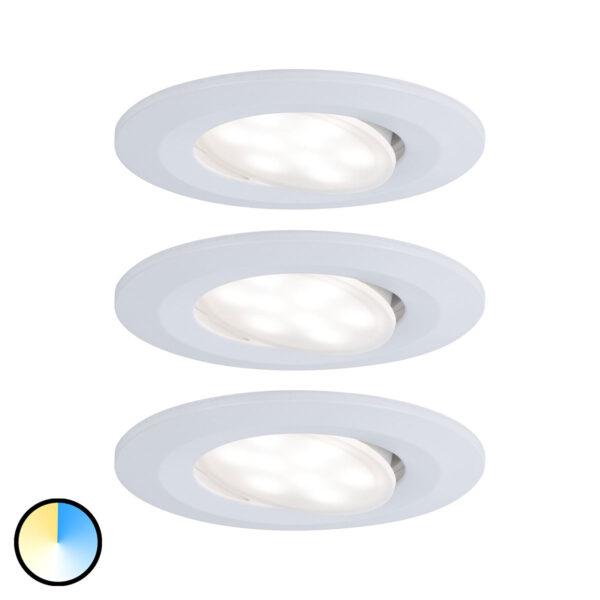 Paulmann LED-kohdevalo Calla värin vaihto 3 kpl