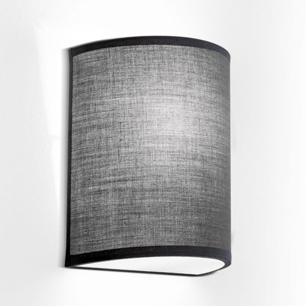 Seinävalaisin Ufo pellavavarjostimella, harmaa