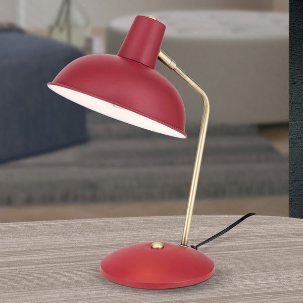 Vintage-tyylinen pöytävalaisin Fedra, punainen